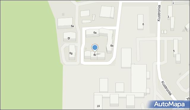 Grudziądz, Kustronia Józefa, gen., 6c, mapa Grudziądza