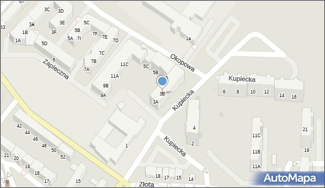 Kołobrzeg, Kupiecka, 3B, mapa Kołobrzegu