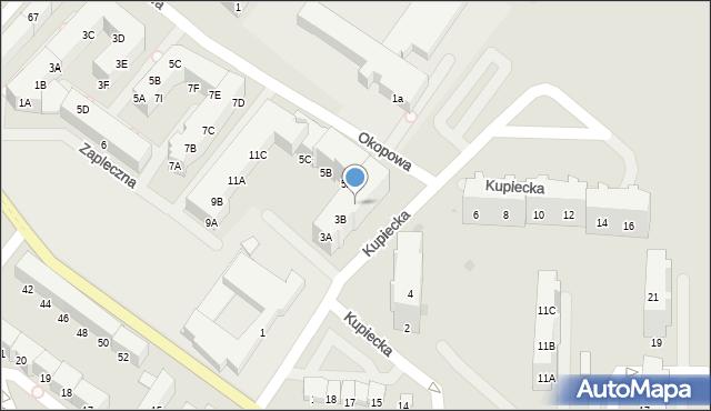 Kołobrzeg, Kupiecka, 3C, mapa Kołobrzegu