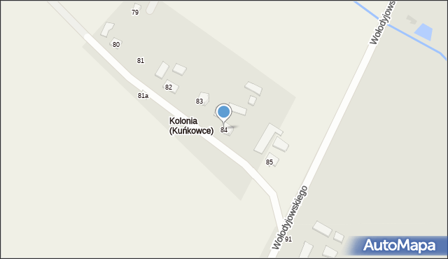 Kuńkowce, Kuńkowce, 84, mapa Kuńkowce