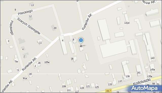 Lubaczów, Kurierów Armii Krajowej, 46, mapa Lubaczów