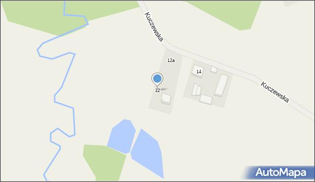 Luzino, Kuczewska, 12, mapa Luzino
