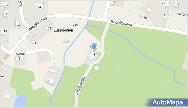 Luzino, Kuczewska, 4, mapa Luzino
