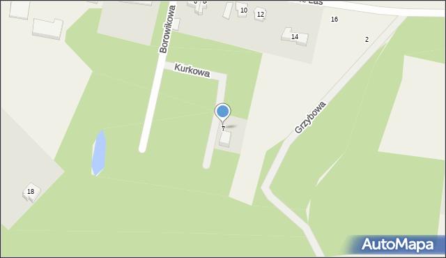 Luzino, Kurkowa, 7, mapa Luzino