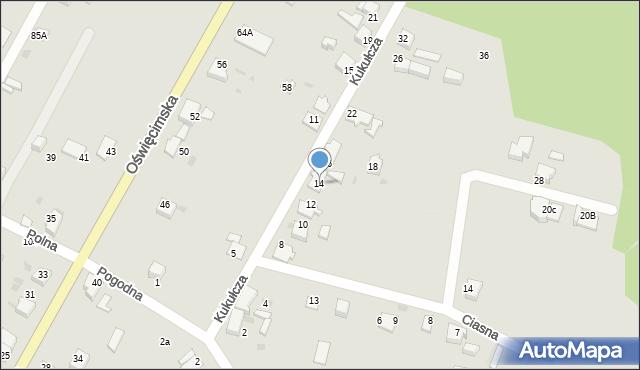 Mikołów, Kukułcza, 14, mapa Mikołów