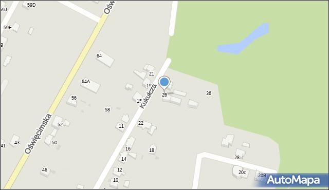 Mikołów, Kukułcza, 26, mapa Mikołów