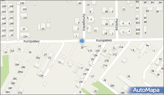Mysiadło, Kuropatwy, 19, mapa Mysiadło