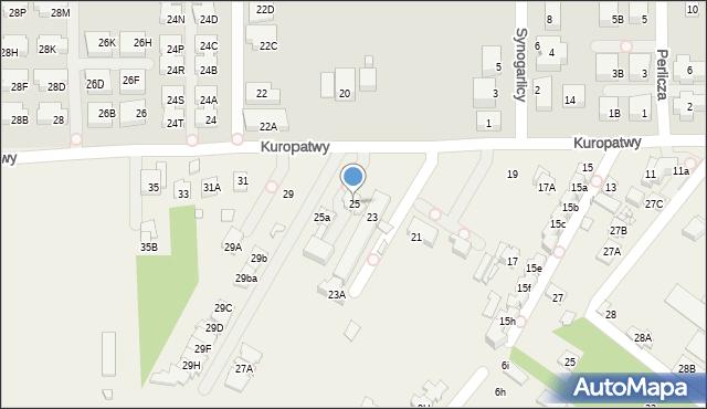 Mysiadło, Kuropatwy, 25, mapa Mysiadło
