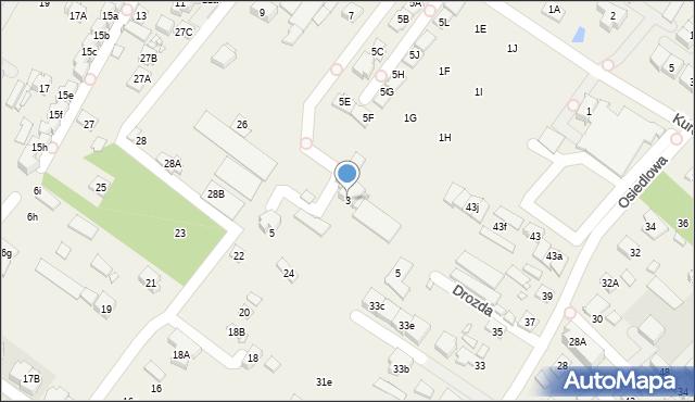 Mysiadło, Kuropatwy, 3, mapa Mysiadło