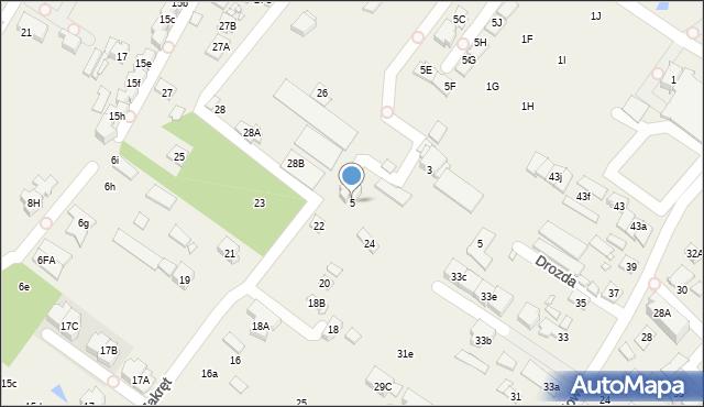 Mysiadło, Kuropatwy, 5, mapa Mysiadło
