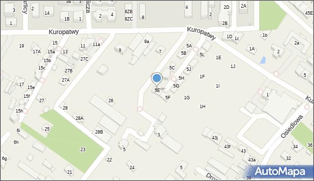 Mysiadło, Kuropatwy, 5E, mapa Mysiadło