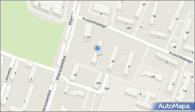 Radom, Kusocińskiego Janusza, 2, mapa Radomia