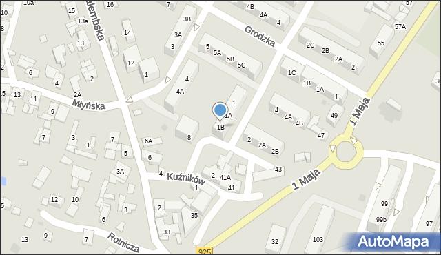 Ruda Śląska, Kukuczki Jerzego, 1B, mapa Rudy Śląskiej
