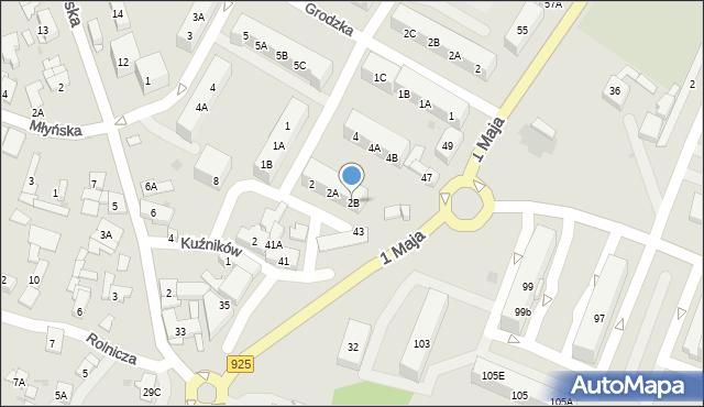 Ruda Śląska, Kukuczki Jerzego, 2B, mapa Rudy Śląskiej