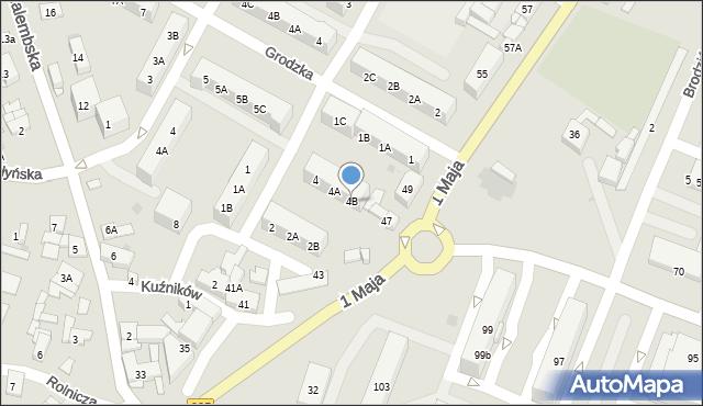 Ruda Śląska, Kukuczki Jerzego, 4B, mapa Rudy Śląskiej