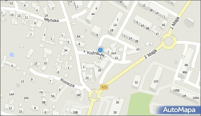 Ruda Śląska, Kuźników, 1, mapa Rudy Śląskiej