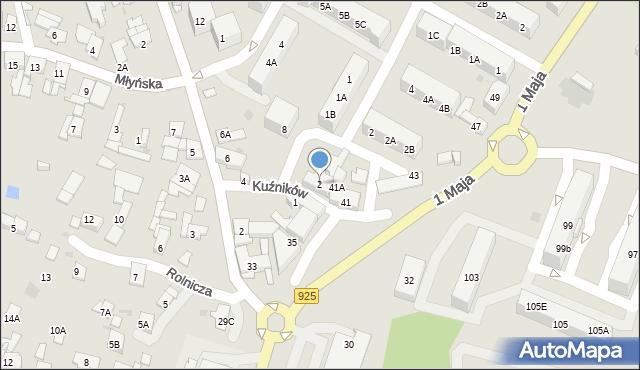 Ruda Śląska, Kuźników, 2, mapa Rudy Śląskiej