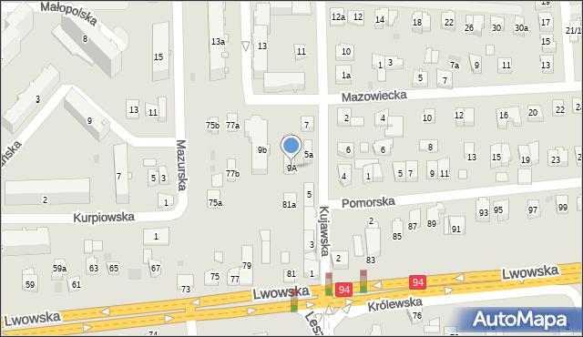 Rzeszów, Kujawska, 9A, mapa Rzeszów
