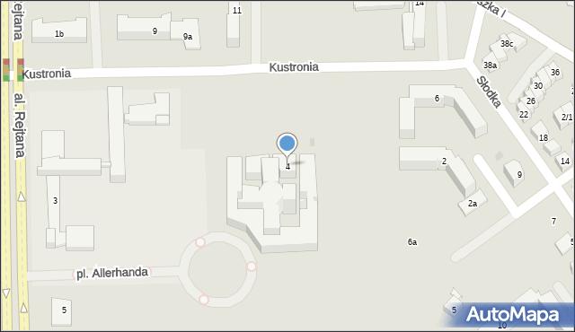 Rzeszów, Kustronia Józefa, gen., 4, mapa Rzeszów