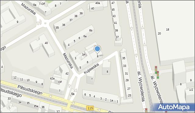 Szczecin, Kujawska, 4, mapa Szczecina