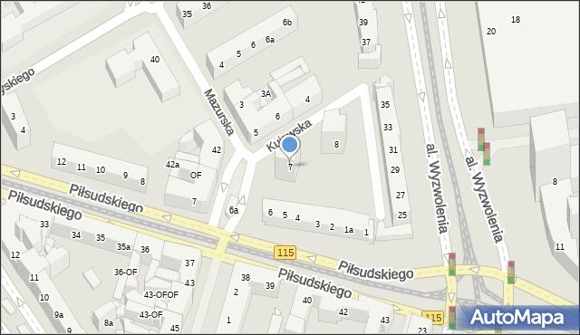 Szczecin, Kujawska, 7, mapa Szczecina