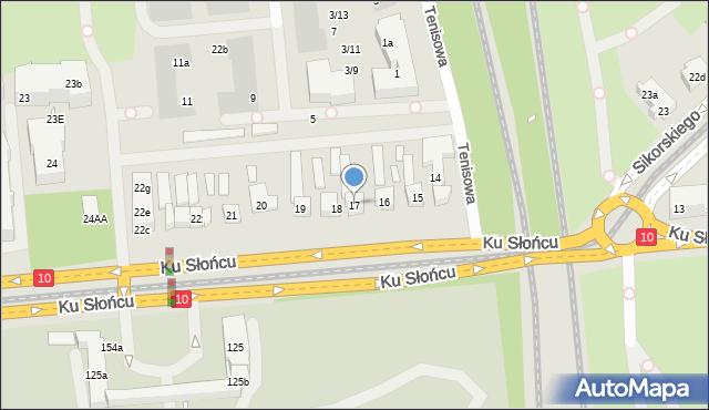 Szczecin, Ku Słońcu, 17, mapa Szczecina