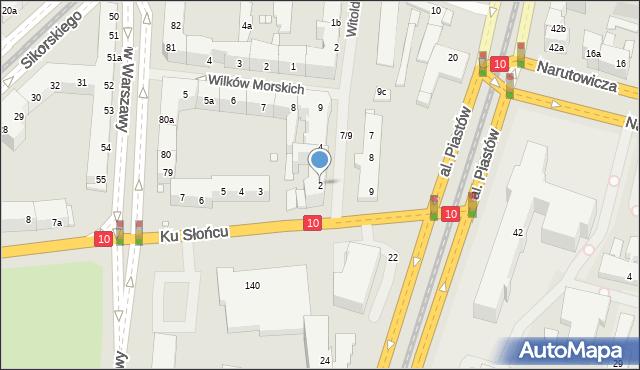 Szczecin, Ku Słońcu, 2, mapa Szczecina
