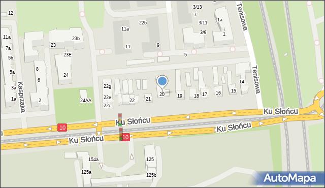 Szczecin, Ku Słońcu, 20, mapa Szczecina