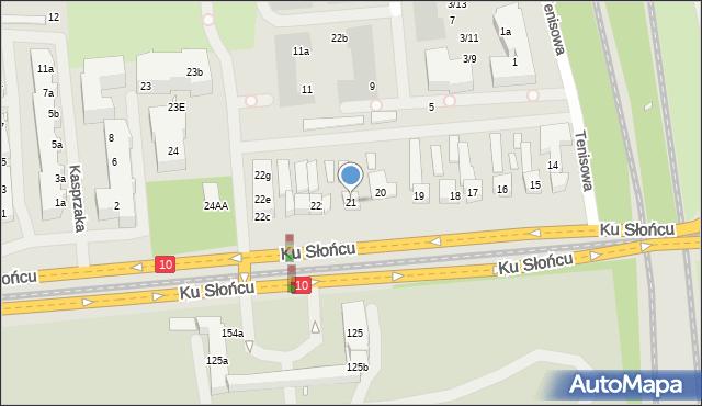 Szczecin, Ku Słońcu, 21, mapa Szczecina