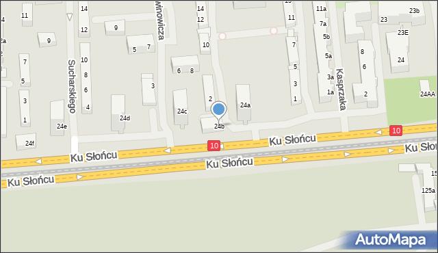 Szczecin, Ku Słońcu, 24b, mapa Szczecina