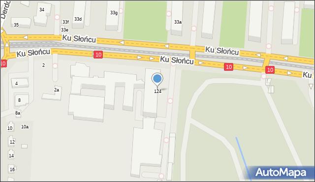 Szczecin, Ku Słońcu, 124, mapa Szczecina