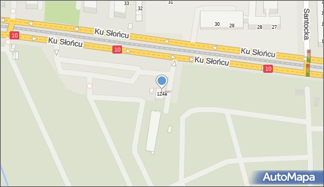 Szczecin, Ku Słońcu, 124a, mapa Szczecina
