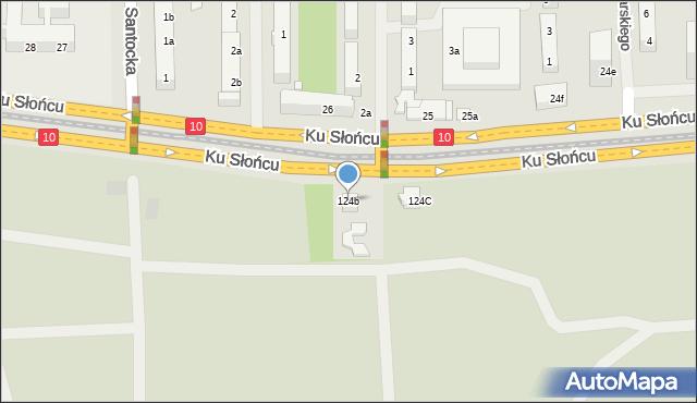 Szczecin, Ku Słońcu, 124b, mapa Szczecina