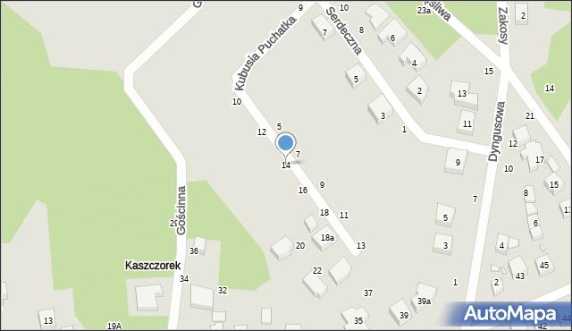 Toruń, Kubusia Puchatka, 14, mapa Torunia