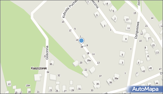 Toruń, Kubusia Puchatka, 16, mapa Torunia