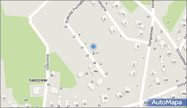 Toruń, Kubusia Puchatka, 9, mapa Torunia