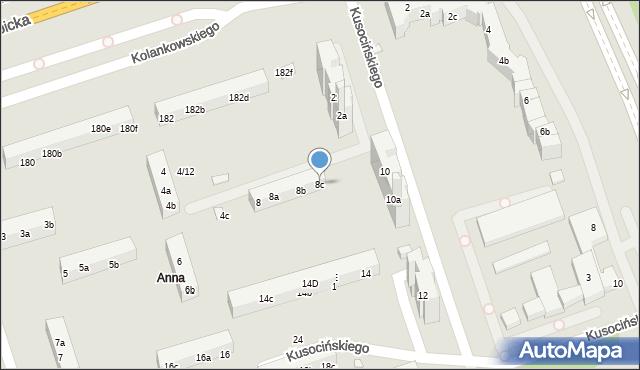 Toruń, Kusocińskiego Janusza, 8c, mapa Torunia