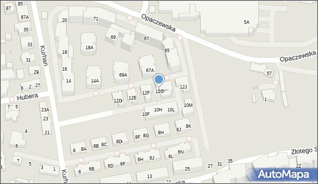 Warszawa, Kurhan, 12G, mapa Warszawy
