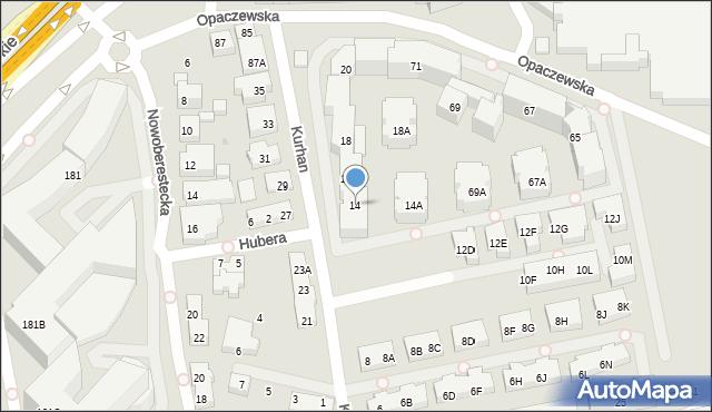 Warszawa, Kurhan, 14, mapa Warszawy