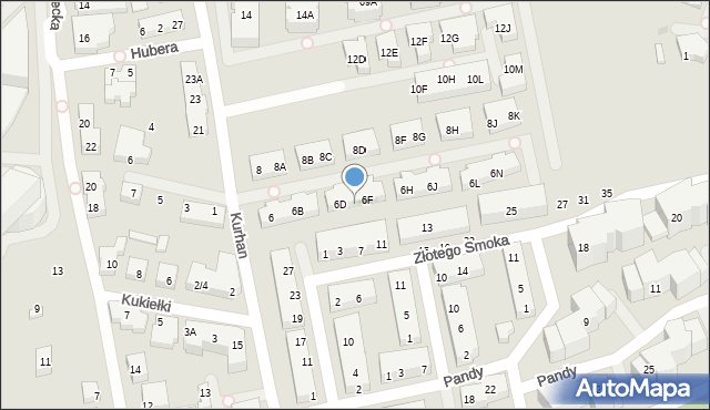 Warszawa, Kurhan, 6E, mapa Warszawy