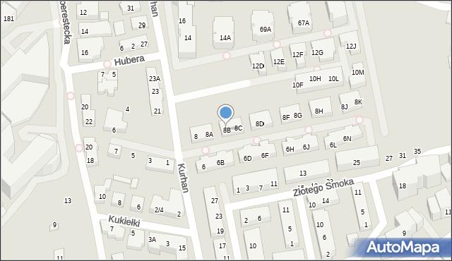 Warszawa, Kurhan, 8B, mapa Warszawy