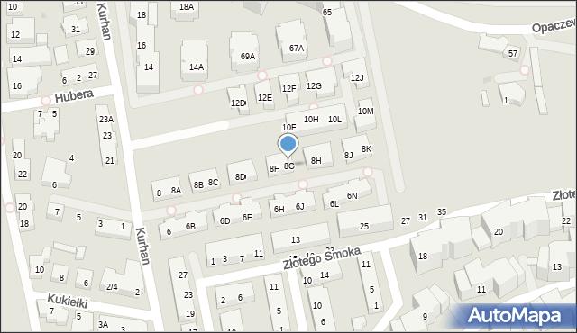 Warszawa, Kurhan, 8G, mapa Warszawy