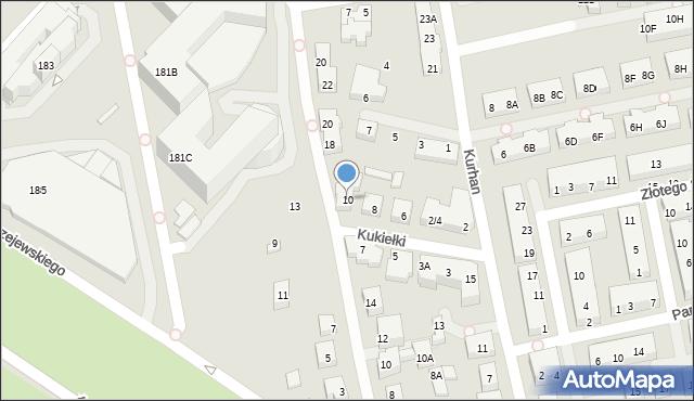 Warszawa, Kukiełki, 10, mapa Warszawy