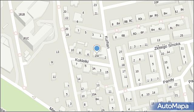 Warszawa, Kukiełki, 2/4, mapa Warszawy