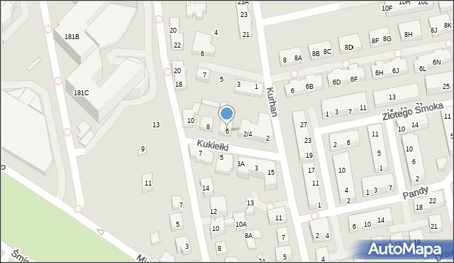 Warszawa, Kukiełki, 6, mapa Warszawy