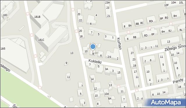 Warszawa, Kukiełki, 8, mapa Warszawy