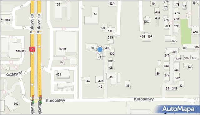 Warszawa, Kuropatwy, 48, mapa Warszawy