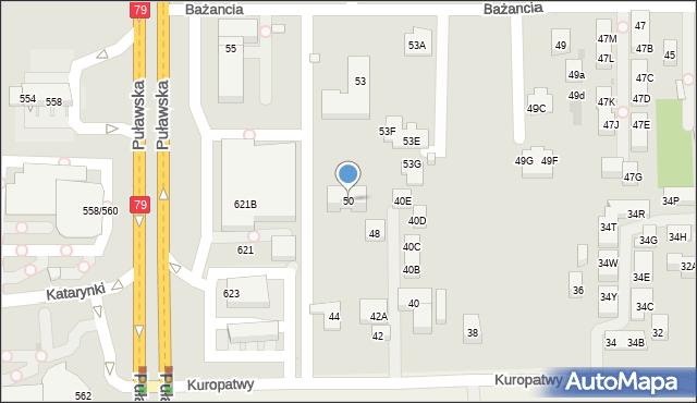 Warszawa, Kuropatwy, 50, mapa Warszawy