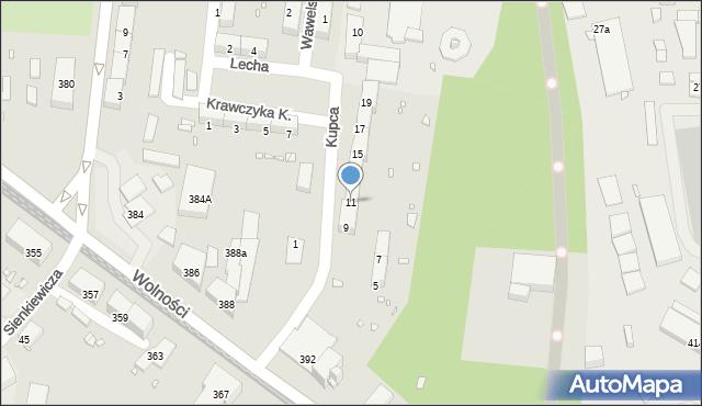 Zabrze, Kupca Jana, 11, mapa Zabrza