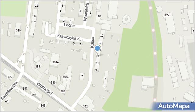 Zabrze, Kupca Jana, 13, mapa Zabrza